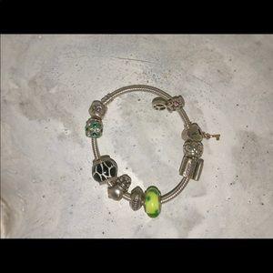 Pandora Jewelry - Authentic Pandora bracelet (basically brand new)